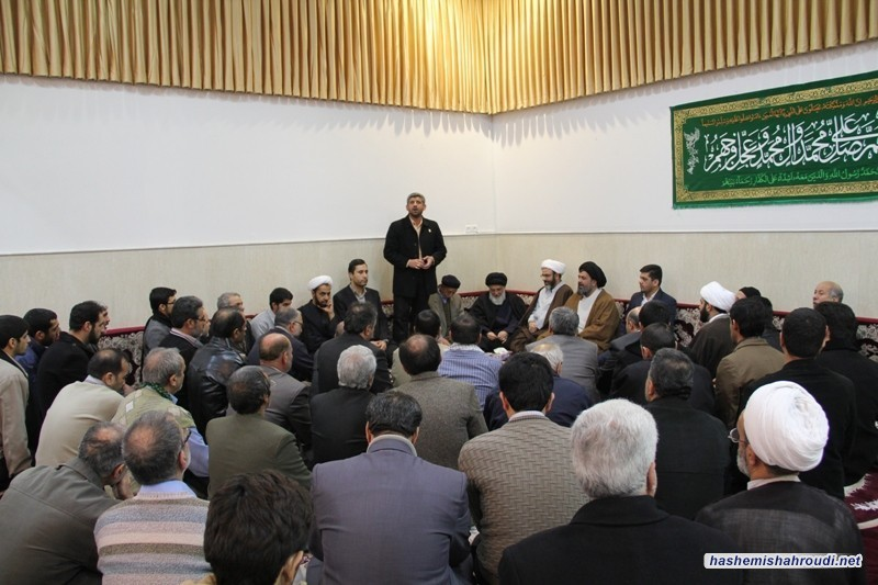 Turban (Ammamaeh) ceremony marking and celebrating the birth day of Hazrate Imam Hassan Askari (AS) in the office of Grand Ayatollah Hashemi Shahrudi with his presence